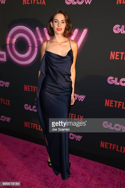 Alison Brie arrives at the premiere Of Netflix's 'GLOW' at The Cinerama Dome on June 21 2017 in Los Angeles California