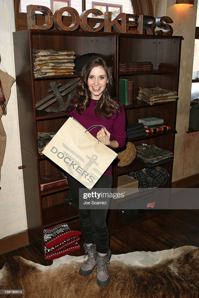 Alison Brie attends Day 2 of the Variety Studio at 2013 Sundance Film Festival on January 20, 2013 in Park City, Utah.