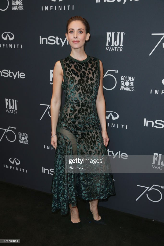 Alison Brie attends the Hollywood Foreign Press Association and InStyle celebrate the 75th Anniversary of The Golden Globe Awards at Catch LA on November 15, 2017 in West Hollywood, California.