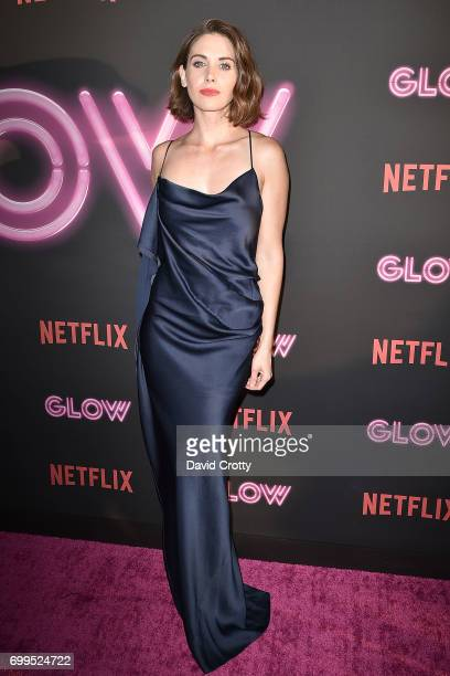 Alison Brie attends the Premiere Of Netflix's 'GLOW' Arrivals at The Cinerama Dome on June 21 2017 in Los Angeles California