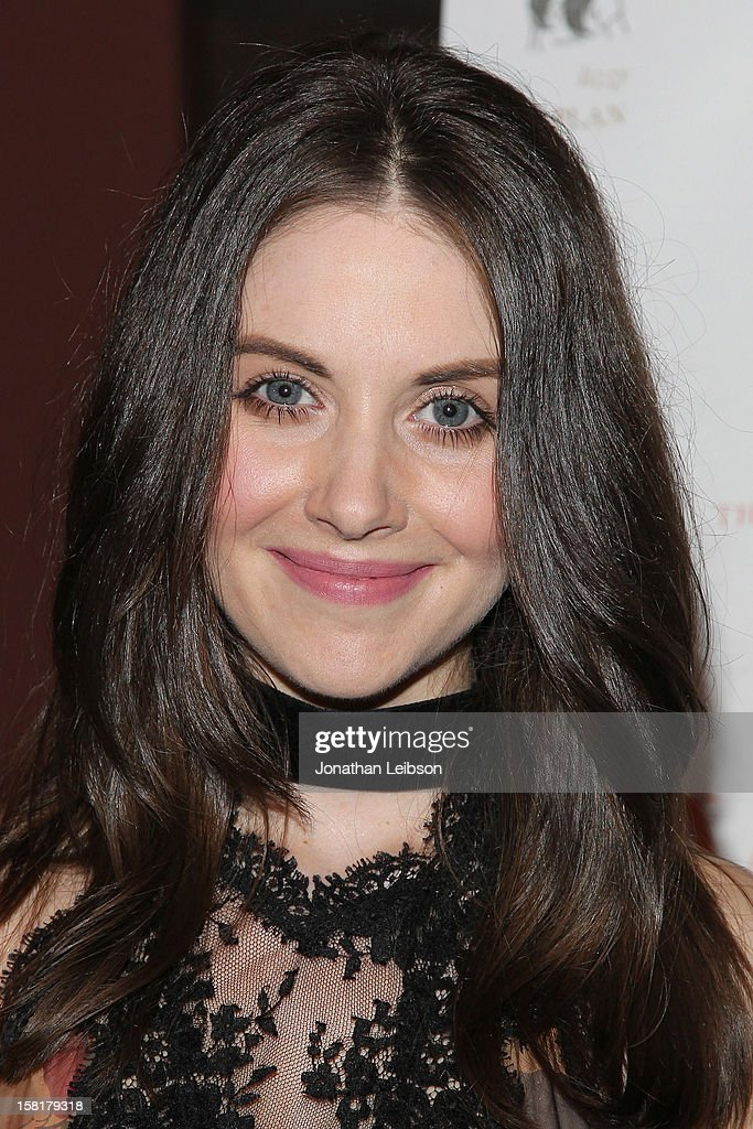 Alison Brie attends the 'Save the Date' screening hosted by Genart and Brancott Estate Wines held at Sundance Cinema on December 10, 2012 in Los Angeles, California.