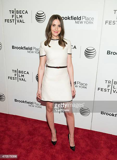 Alison Brie attends the 'Sleeping With Other People' premiere during the 2015 Tribeca Film Festival at BMCC Tribeca PAC on April 21 2015 in New York...