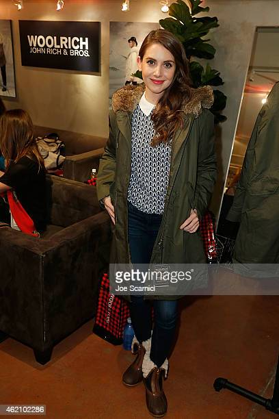 Alison Brie attends The Variety Studio At Sundance Presented By Dockers Day 1 on January 24 2015 in Park City Utah