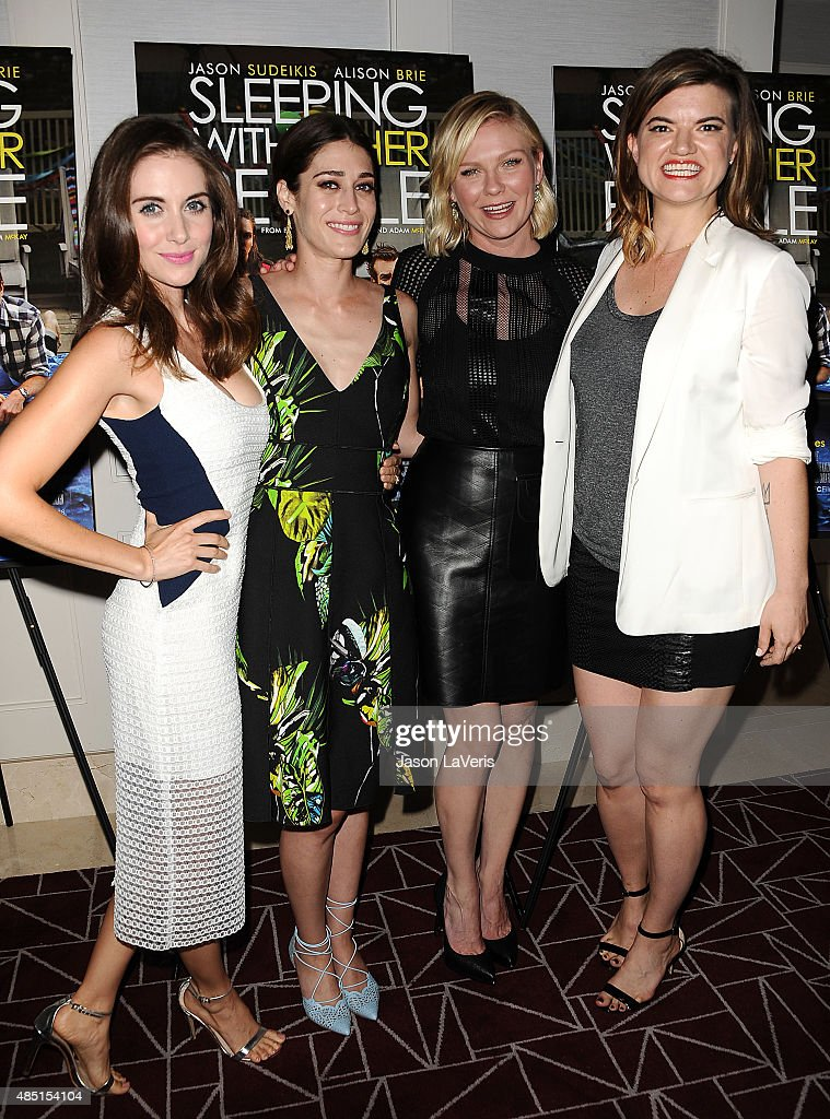 Alison Brie, Lizzy Caplan, Kirsten Dunst and Leslye Headland attend the tastemaker screening of IFC Films' 'Sleeping With Other People' on August 24, 2015 in West Hollywood, California.