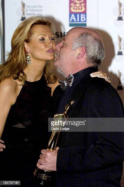 Alison Doody and Gerard McSorley with his Best Actor Award for his performance in 'Omagh'