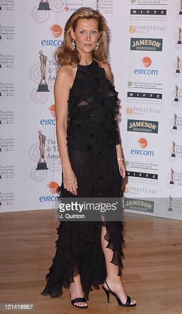 Alison Doody during The Irish Film and Television Awards 2004 Press Room at The Burlington Hotel in Dublin Ireland