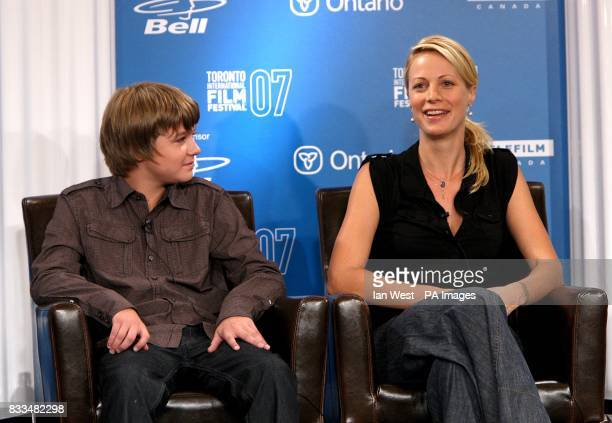 Alison Eastwood and Miles Heizer at the the 'Rails Ties' press conference during the Toronto International Film Festival 2007 held at the Four...