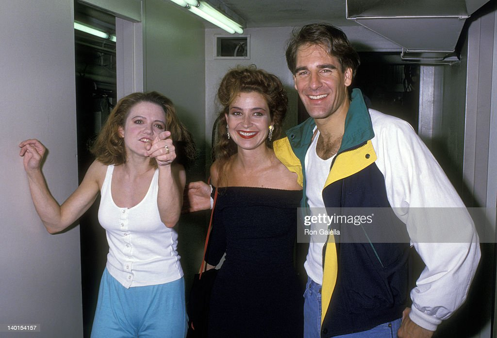 Alison Fraser Annie Potts and Scott Bakula at the Play Performance of 'Romance/Romance' Helen Hayes Theatre New York City