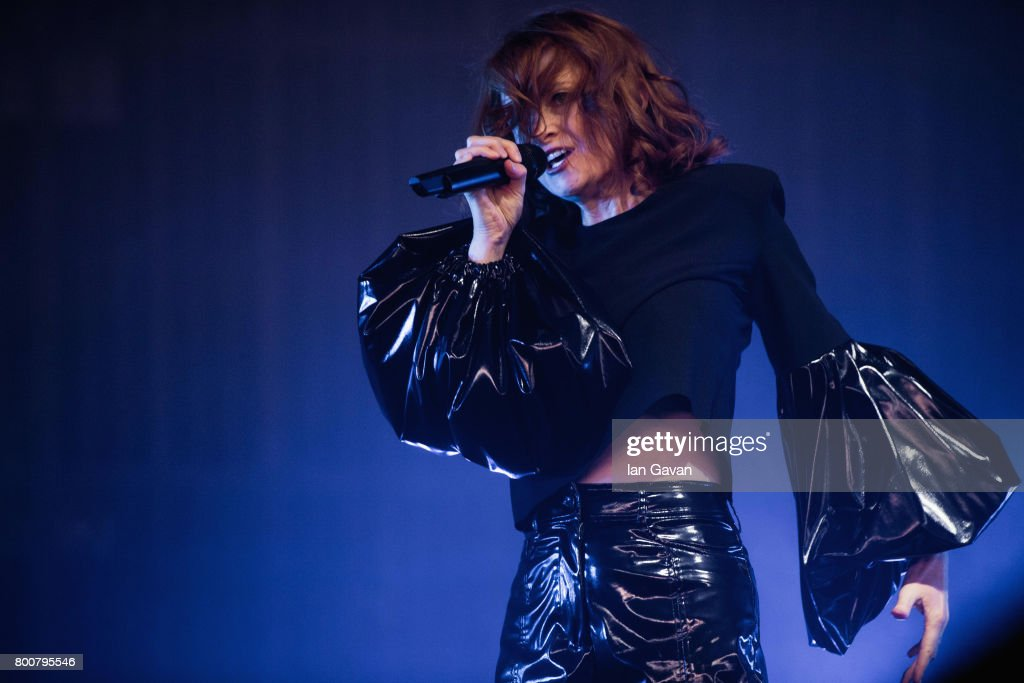 Alison Goldfrapp of Goldfrapp performs on day 4 of the Glastonbury Festival 2017 at Worthy Farm, Pilton on June 25, 2017 in Glastonbury, England.