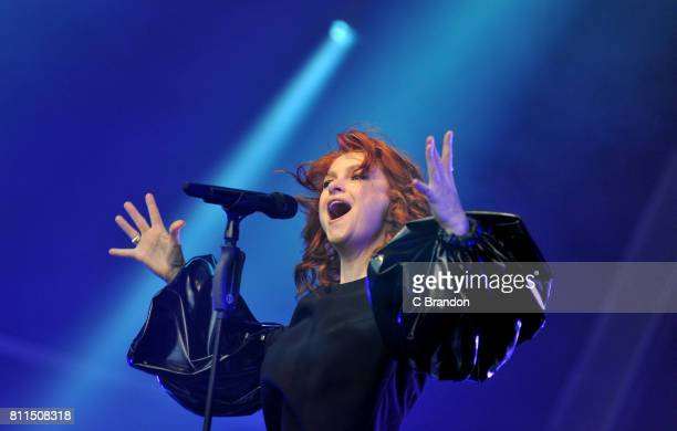 Alison Goldfrapp performs during Summer Series on stage at Somerset House on July 9 2017 in London England