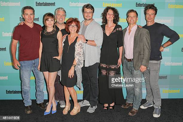 Alison Haislip guest Mindy Sterling Nathan Fillion guest Casper Van Dien and Patrick Muldoon arrive at the Entertainment Weekly celebration at Float...