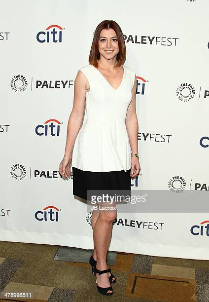 Alison Hannigan attends the 'How I Met Your Mother' Series Farewell held at Dolby Theatre on March 15 2014 in Hollywood California