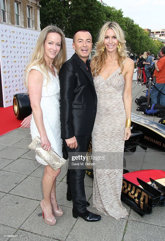 Alison Henry, Julien Mcdonald and Melissa Odabash attend the F1 Party in aid of great ormond street hospital childrens charity at Old Billingsgate Market on June 26, 2013 in London, England.