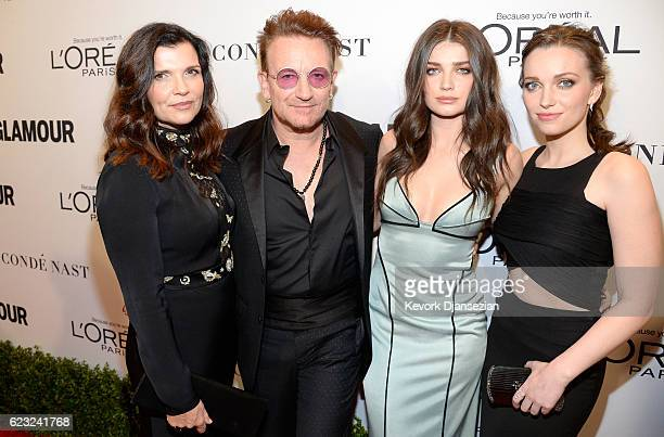 Alison Hewson honoree Bono actress Eve Hewson and Jordan Hewson attend Glamour Women Of The Year 2016 at NeueHouse Hollywood on November 14 2016 in...