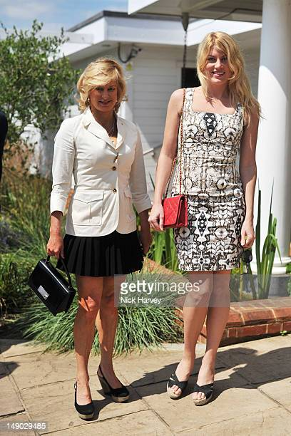 Alison Jackson and Meredith Ostrom attend the Audi International polo at Guards Polo Club on July 22 2012 in Egham England