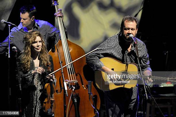 Alison Krauss and Dan Tyminski of Alison Krauss Union Station perform in support of the bands' Paper Airplane release at The Greek Theater on June 25...