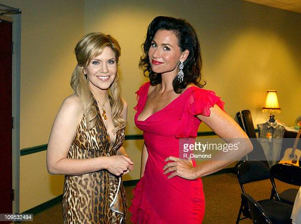 Alison Krauss and Minnie Driver during CMT 2004 Flame Worthy Video Music Awards Backstage and Audience at Gaylord Entertainment Center in Nashville...