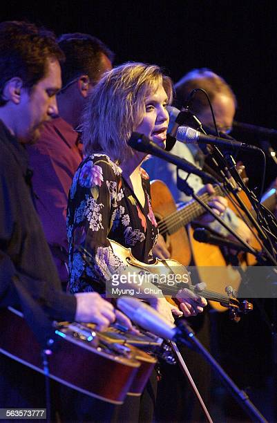 Alison Krauss and Union Station perform at Walt Disney Concert Hall Tuesday night At left is Jerry Douglas on the dobro