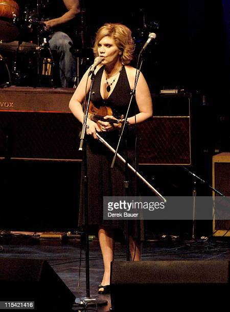 Alison Krauss during Les Paul and Friends in Concert at the Gibson Amphitheatre at Universal City Walk February 7 2006 at Gibson Amphitheatre at...