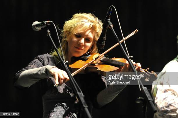 Alison Krauss of Alison Krauss Union Station performs on stage at Royal Festival Hall during Day 3 of the London Jazz Festival 2011 on November 13...