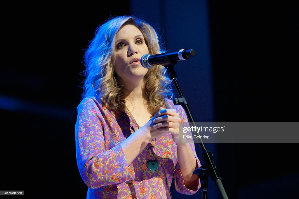 Alison Krauss performs during the 2014 Country Music Hall of Fame induction ceremony at Country Music Hall of Fame and Museum on October 26, 2014 in Nashville, Tennessee.
