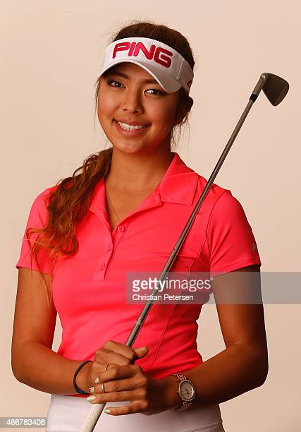 Alison Lee of the United States poses for a portrait ahead of the LPGA Founders Cup at Wildfire Golf Club on March 18 2015 in Phoenix Arizona