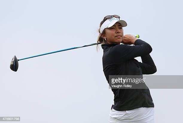 Alison Lee of the USA takes her first shot on the 7th hole during the first round of the Manulife LPGA Classic at the Whistle Bear Golf Club on June...