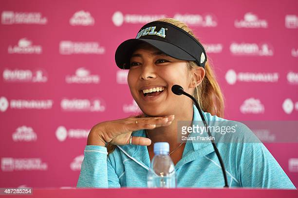 Alison Lee of USA during the press conference prior to the start of the Evian Championship Golf on September 8 2015 in EvianlesBains France