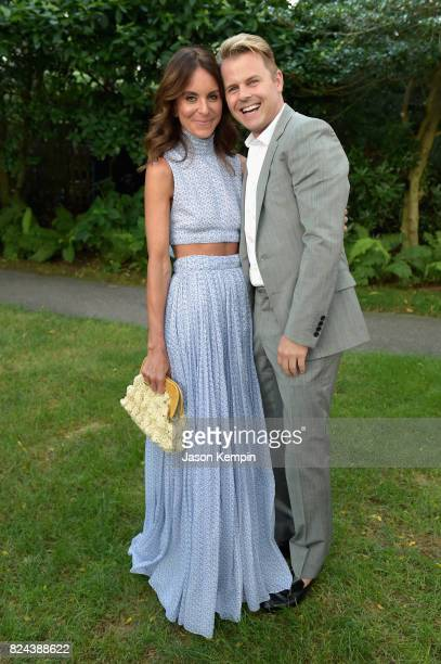 Alison Loehnis and Adam Lippes attend The GOOD Foundation's Hamptons Summer Dinner cohosted by NETAPORTER on July 29 2017 in East Hampton New York