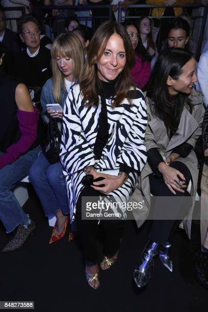 Alison Loehnis attends the Anya Hindmarch show during London Fashion Week September 2017 on September 17 2017 in London England