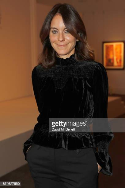 Alison Loehnis attends the Bazaar At Work Summit cocktail party at Sotheby's on November 15 2017 in London England