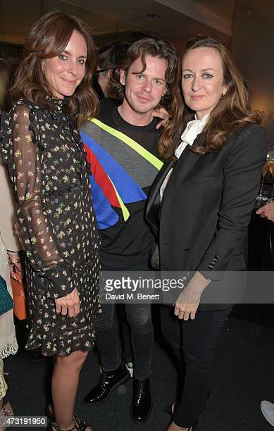 Alison Loehnis President of NetaPorter Christopher Kane and Lucy Yeomans attendsThe NET SET powered by NETAPORTERCOM launch party on May 13 2015 in...