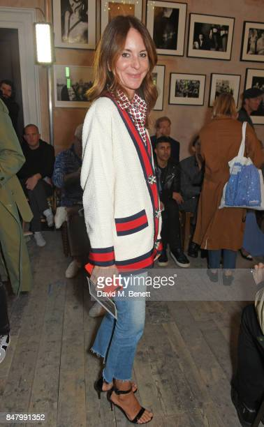 Alison Loehnis wearing Burberry at the Burberry September 2017 at London Fashion Week at The Old Sessions House on September 16 2017 in London England