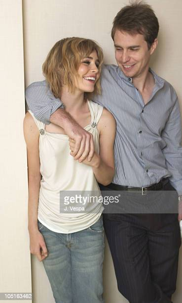 Alison Lohman and Sam Rockwell during 2003 Toronto International Film Festival 'Matchstick Men'Portraits at The Four Seasons Hotel in Toronto Ontario...