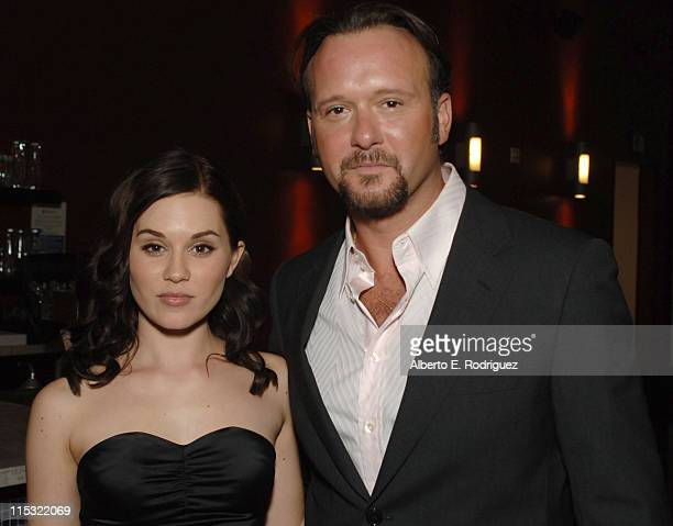 Alison Lohman and Tim McGraw during Hollywood Film Festival's Opening Night Film Gala of 'Flicka' Red Carpet at The Arclight Theater in Hollywood...