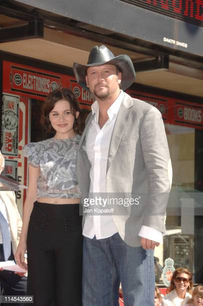 Alison Lohman and Tim McGraw during Tim McGraw Honored with a Star on the Hollywood Walk of Fame at 6901 Hollywood Blvd in front of the Virgin...