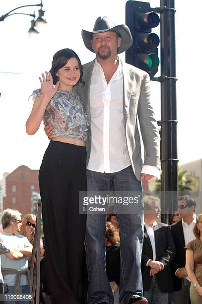 Alison Lohman and Tim McGraw during Tim McGraw Honored With A Recording Star On The Hollywood Walk of Fame at Hollywood Blvd in Hollywood California...