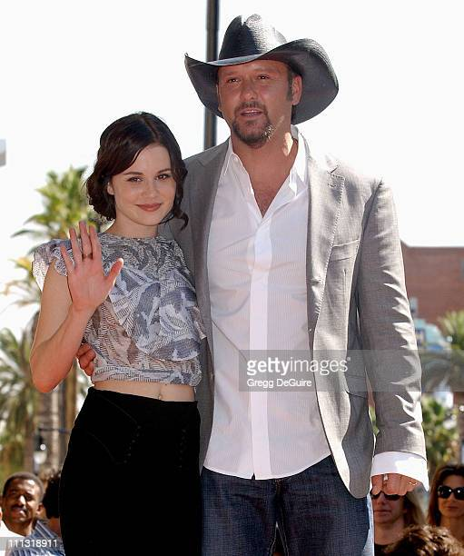 Alison Lohman and Tim McGraw during Tim McGraw Receives a Recording Star On The Hollywood Walk of Fame at Hollywood Blvd in Hollywood California...