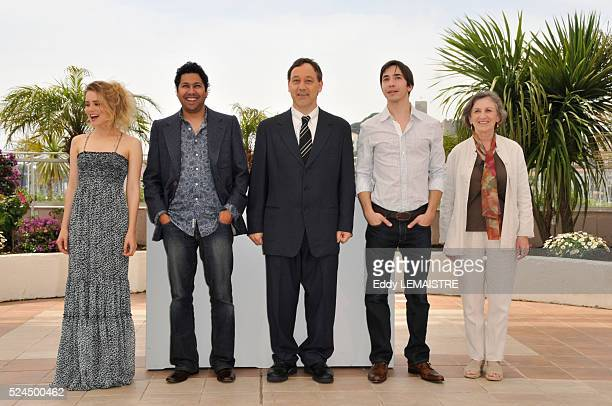 Alison Lohman Dileep Rao Sam Raimi Justin Long and Lorna Raver at the photo call of 'Drag Me To Hell' during the 62nd Cannes Film Festival