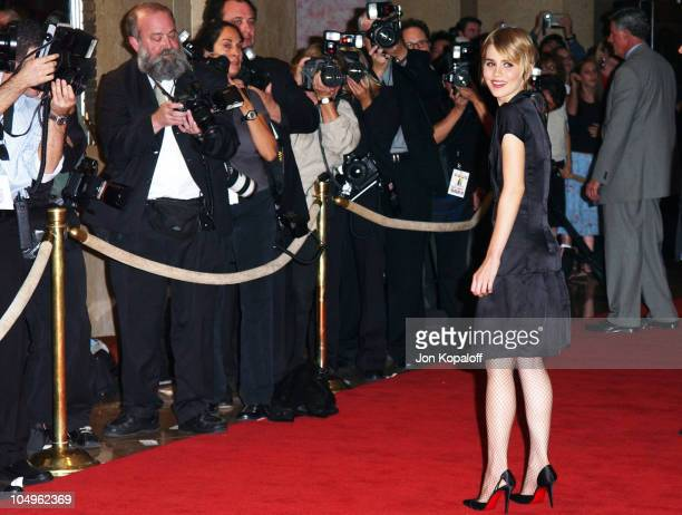 Alison Lohman during Hollywood Awards Gala Ceremony Red Carpet Arrivals at The Beverly Hilton in Beverly Hills California United States