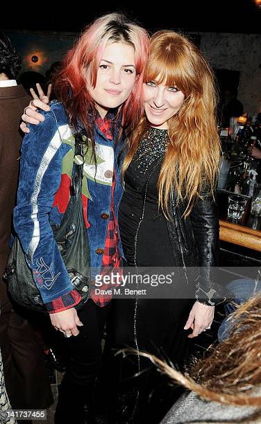 Alison Mosshart and Charlotte Tilbury attend a private dinner celebrating the Spring/Summer issue of Another Man magazine and the UK launch of BLK...