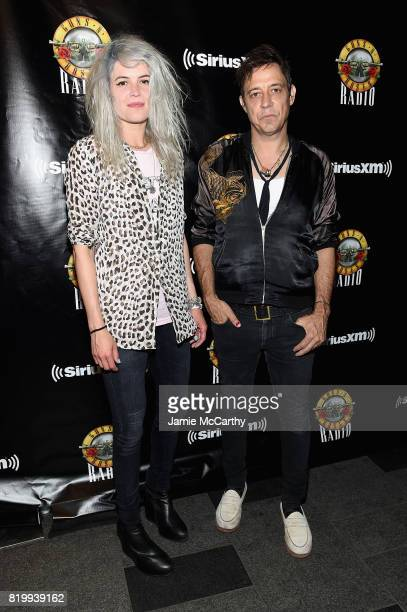 Alison Mosshart and Jamie Hince of The Kills attend the SiriusXM's Private Show with Guns N' Roses at The Apollo Theater before band embarks on next...