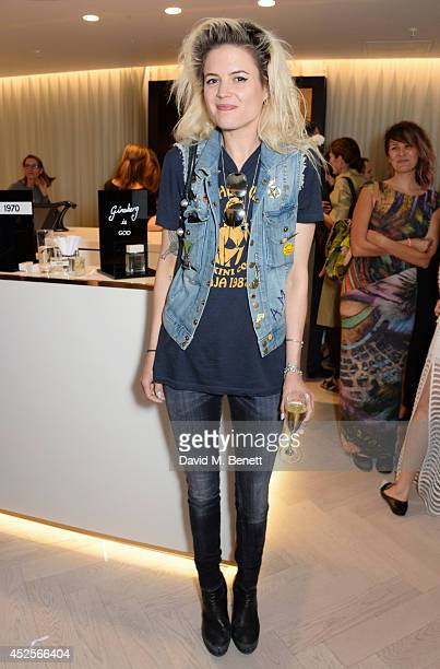 Alison Mosshart attends the launch of the Bella Freud Parfum frangrance at Harvey Nichols on July 23 2014 in London England