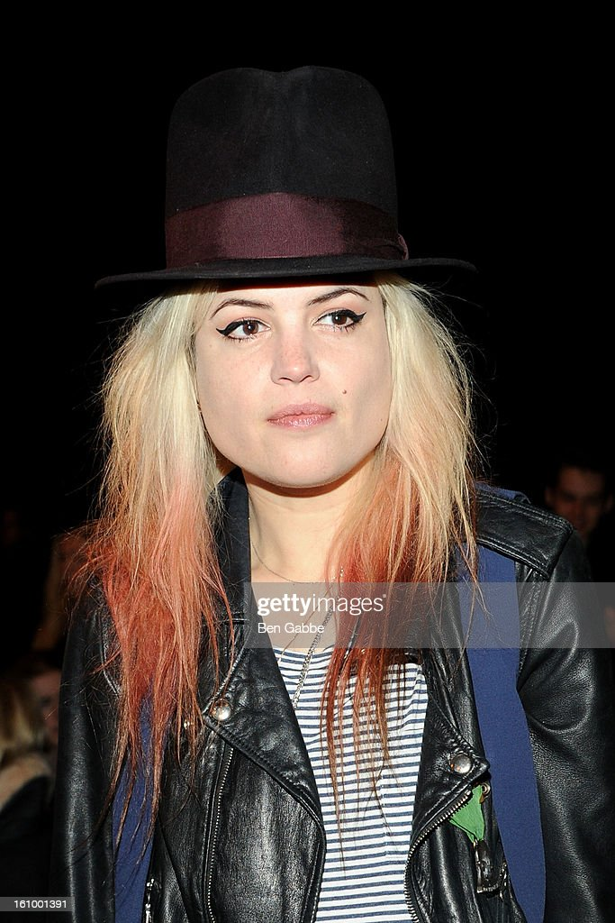 Alison Mosshart attends the Rag & Bone Women's fall 2013 fashion show during Mercedes-Benz Fashion Week at Skylight Studios at Moynihan Station on February 8, 2013 in New York City.