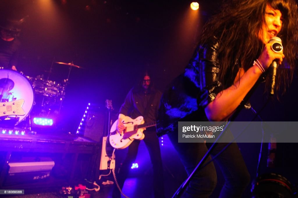 Alison Mosshart, Dean Fertita, Jack Lawrence, Jack White and The Dead Weather attend DeLeón Tequila Presents The Nur Khan Sessions with The Dead Weather at Don Hill's on August 4, 2010 in New York City.