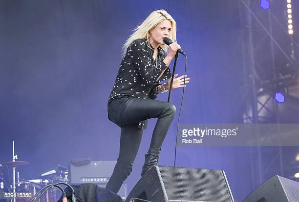 Alison Mosshart from the Kills performs at the Isle Of Wight Festival 2016 at Seaclose Park on June 11 2016 in Newport Isle of Wight