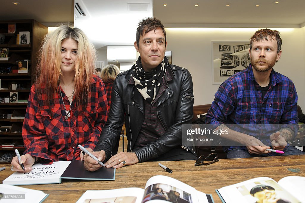 Alison Mosshart, Jamie Hince of The Kills and Kenneth Cappello attend the 'Dream and Drive' signing on September 26, 2012 in London, England.Ê