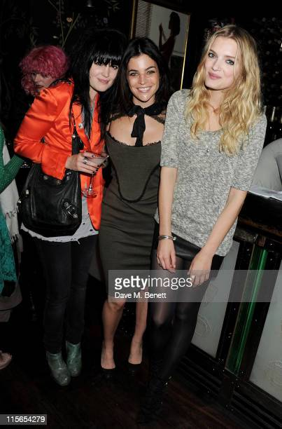 Alison Mosshart Julia Restoin Roitfeld and Lily Donaldon attend a dinner in honor of RETNA The Hallelujah Tour presented by Vlasimir Restoin Roitfeld...