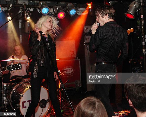 Alison Mosshart of The Kills and Matt Shultz of Cage the Elephant perform 'It's Just Forever' at a private concert for SiriusXM subscribers to...