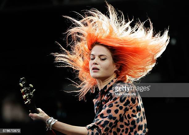 Alison Mosshart of The Kills performs during Splendour in the Grass 2016 on July 22 2016 in Byron Bay Australia